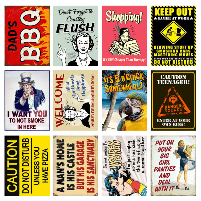Cool Novelty Gift Funny Retro Metal Signs//Plaques Quotes 4