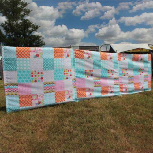 Florelle tissu Brise-Vent 3 panneaux 4 m de long par Outdoor Revolution pour caravane Moto