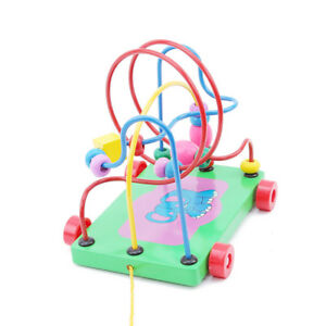 Toddler-Learning-Wooden-Bead-Maze-Activity-Center-Child-Educational-Toys-LG