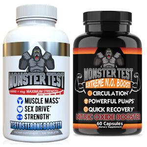 Testosterone Booster Pack w/ Monster Test + Monster Test Nitric Oxide  2-PK