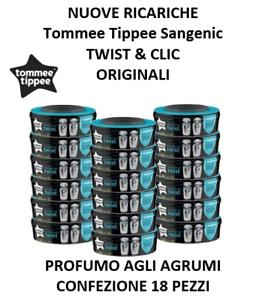 MéThodique Sangenic Tommee Tippee 18 Ricariche Twist & Clic - Tec - Originale Nuovo Agrumi Blanc De Jade