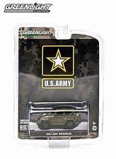 GREENLIGHT 1:64 SCALE DIECAST US ARMY DARK GREEN 2014 JEEP WRANGLER SOFT TOP