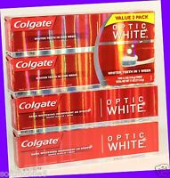 4 Colgate Optic White Sparkling Mint Fluoride Toothpaste Same Ingredient -strips