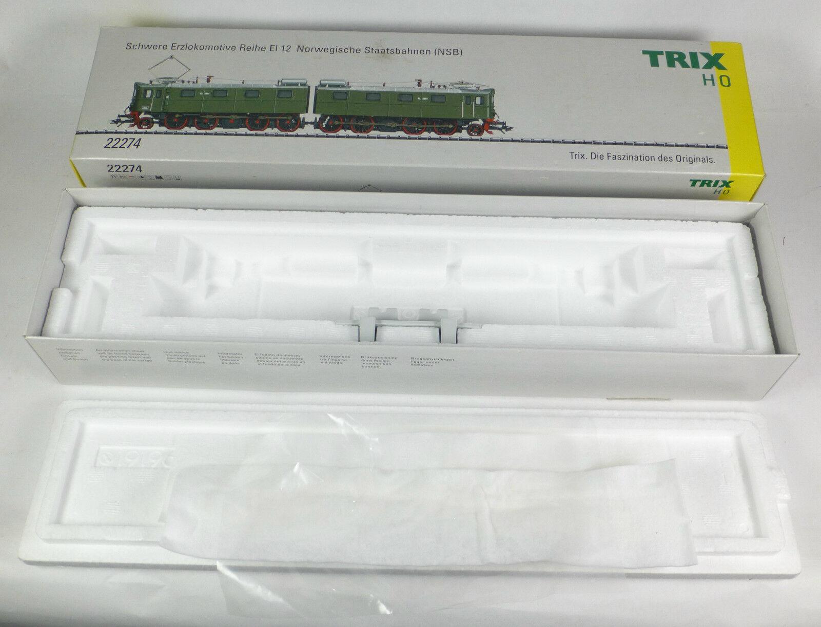 Trix cartone vuoto 22274 E-Lok BR serie EL 12 minerale di Digital imballaggio VUOTO EMPTY BOX