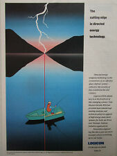 1989-92 PUB LOGICON DIRECTED ENERGY WEAPON TECHNOLOGY LASER PECHEUR FISHERMAN AD