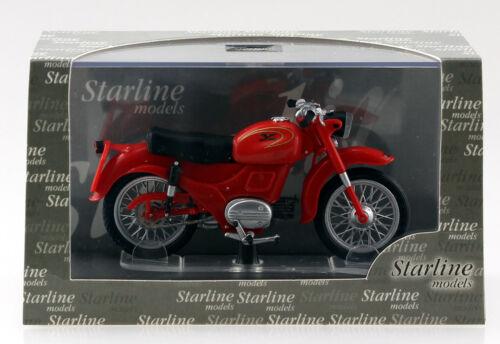 MOTO GUZZI ZIGOLO ROSSO STARLINE 1:24 MOTO MODELLO