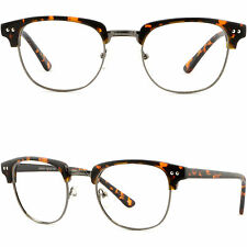 Browline Frame Prescription Glasses Anti Reflective Shiny Pieces Tortoiseshell