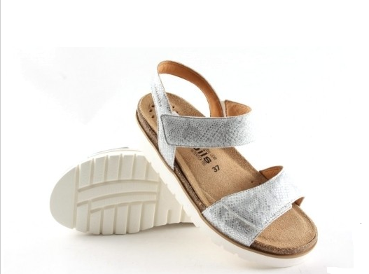 Mephisto Mobils Thelma Silver Ankle Stap Comfort Sandal Women's Sizes 35-42 NEW