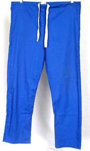 Scrubs-amp-Beyond-Women-039-s-Blue-Color-Medical-Scrub-Drawstring-Pants-Size-XS