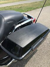 Lid Covers for 94-2013 Harley-Davidson Hard bag lids Vinyl tops in Black Mamba