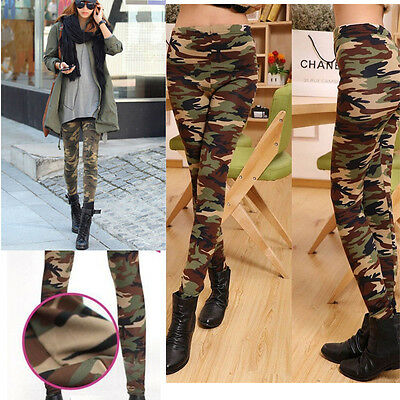 New Fashion Women's Sexy Skinny Print Pants Stretch Jeggings Legging Camouflage