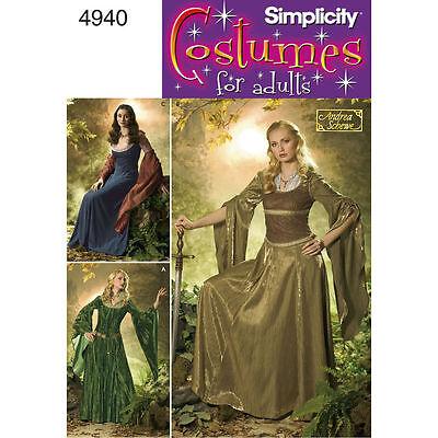 Arwen dress PATTERN Eowyn Fantasy Elf Princess Simplicity 4940 10 12 14 16 18