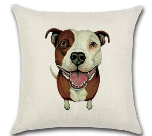 Staffy Cartoon Staffie DOG Cushion Cover UK Sale Staffordshire Bull Terrier