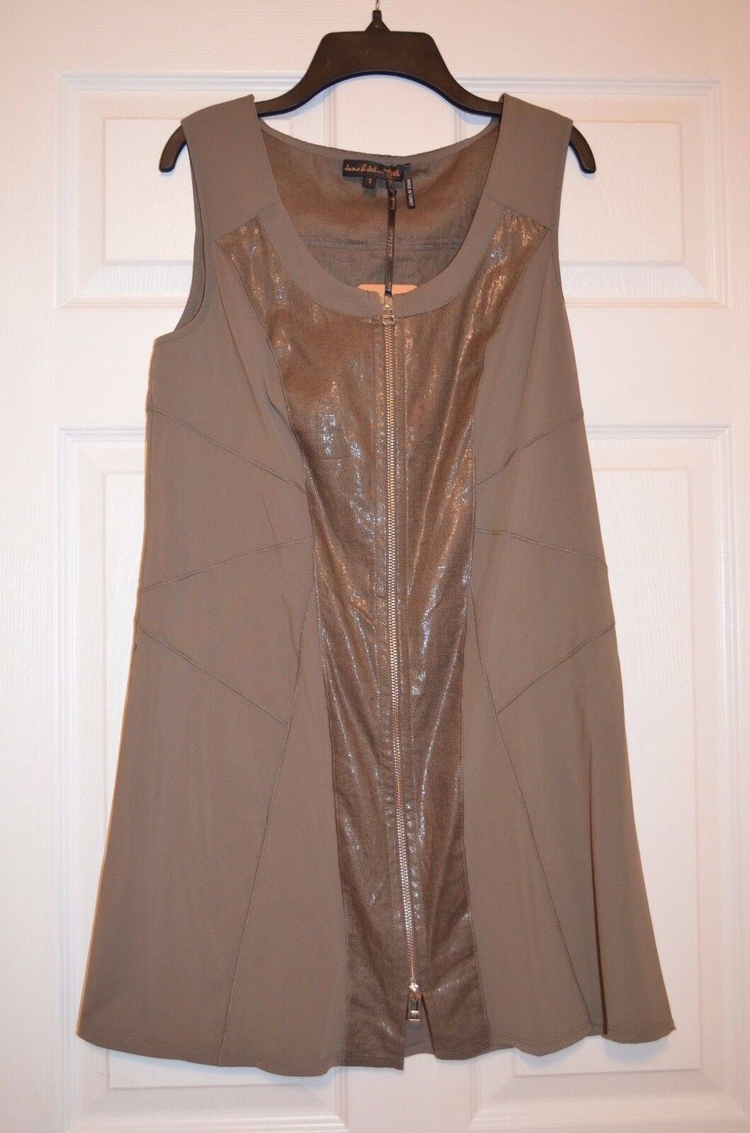 Jane & John Tricotta Womens Size S Small Long Duster vest - Green