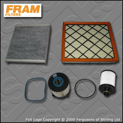 SERVICE KIT VAUXHALL ASTRA J MK6 2.0 CDTI FRAM OIL AIR FUEL CABIN FILTER 09-15