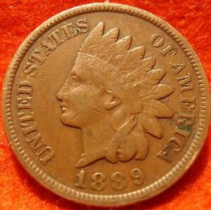 1889-VF-Full-Liberty-High-Grade-Indian-Head-Great-details-No-reserve