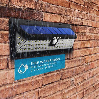 54 LED Mpow Solar light Wall Lights Outdoor Waterproof Garden Light UK STOCK NEW