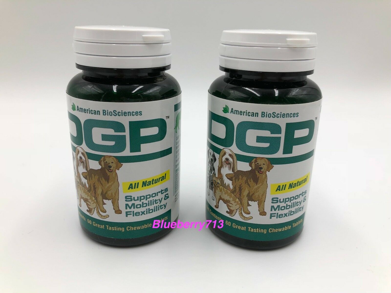 Lot of 2  American American American BioSciences DGP Joint Support For Pets 60 Tablets ( 2-Pack ) 56f527
