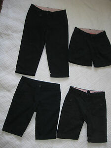 Lot-Of-4-Girls-Navy-Blue-School-Uniform-Pants-Shorts-Children-039-s-Place-5-6-6x-7