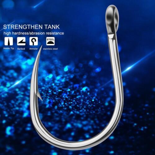 20pc Saltwater Fishing Hook JIGGING HOOK 1//0 13//0 Model Stainless Steel H8R7