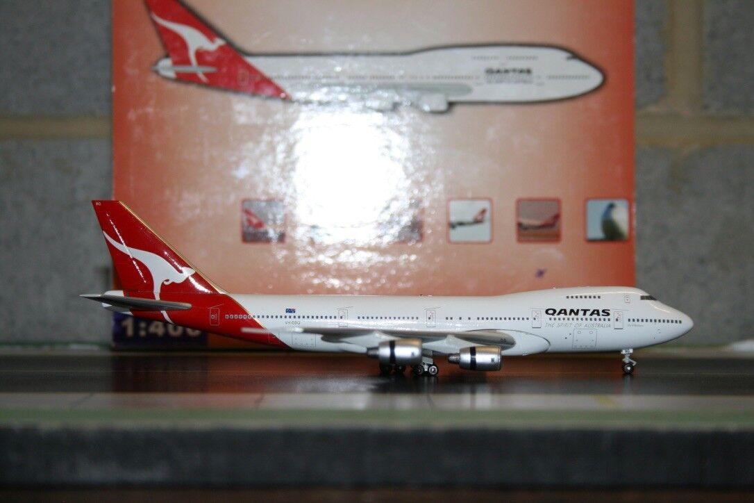 bluee Box BBOX 1 400 Qantas Boeing 747-200 VH-EBQ Die-Cast Model Plane