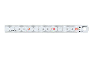 Shinwa Stainless Steel Straight Ruler Measuring Double Side Scale 150mm JAPAN