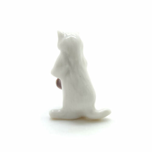 FG092-6 Cat Ceramic Figurine Animal Dollhouse Miniature Playing Saxophone 1//12