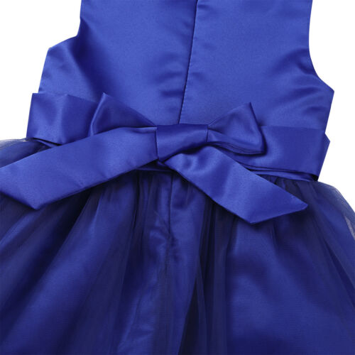 Flower Girl Dress Sequins Bowknot Princess Party Wedding Bridesmaid Pageant Gown