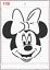 Disney Minnie Mouse Face Stencil MYLAR A4 sheet strong reusable Carft Art Deco