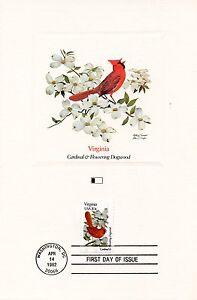 First Day Of Issue / Fdc / Oiseaux & Fleurs Des 50 Etats Des Usa / Virginia Remise GéNéRale Sur La Vente 50-70%