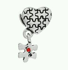 5 autismo Conciencia Rompecabezas Amor Corazón cuelgan europeo encanto granos