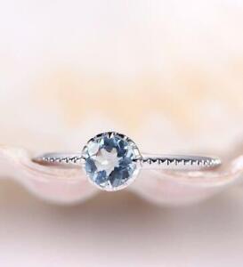 1-6ct-Round-Blue-Aquamarine-Stylish-Design-Engagement-Ring-14k-White-Gold-Finish