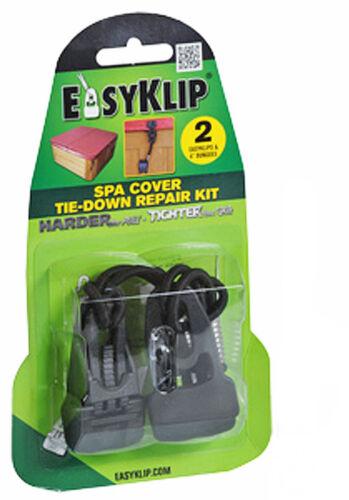 Easyklip Hot Tub copertura Cinturino RIPARAZIONE KIT SPA Cinturini Ricambio Clip TIE DOWN