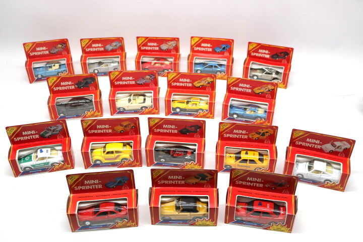Playbear Mini-Sprinter Spielzeugautos Konvolut 17 Stück