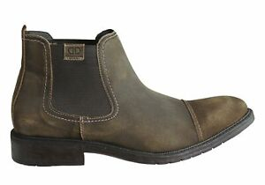 Brand-New-Democrata-Carson-Mens-Leather-Comfortable-Chelsea-Boots-Made-In-Brazil