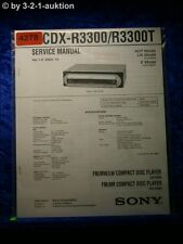 Sony Service Manual CDX R3300 /R3300T CD Player (#4278)