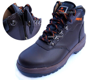 b80beb808f2 Details about Men PRO6 Safety Work Boots Steel Toe Cap Zippers feature  (Made in Korea)