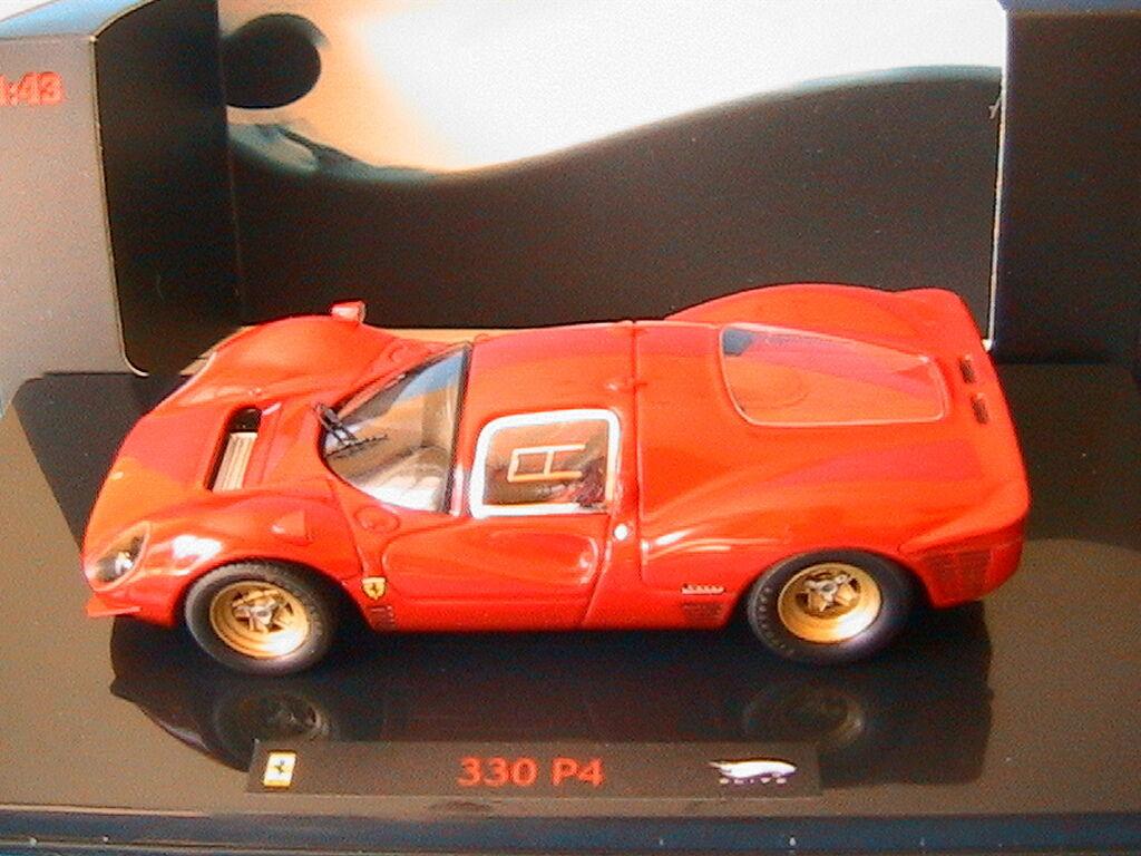 FERRARI 330 P4 PROVA 1967 HOTWHEELS ELITE P9956 1 43 rouge ROUGE rouge LE MANS