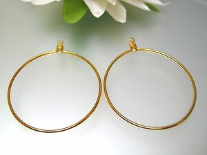 Image Is Loading Round Circle Shape Gold Plated Wire Hoop
