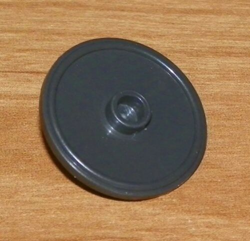 Shield Round with Stud and Ring Around Edge Minifig LEGO Pearl Dark Gray