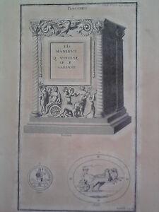 GRAVURE-ANCIENNE-D-039-EPOQUE-BACCHUS-BOISSARD-BEGER-MAFFEI-FORMAT-26-x-39-5-cm
