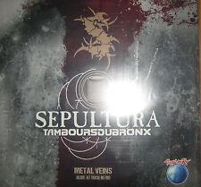 NEU Vinyl 2 LP Sepultura Les Tambours Du Bronx Live Rock Rio - Metallica Slayer