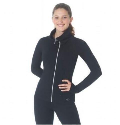 New Mondor 4834 Supplex Full Zip Ice Skating Dress Jacket -Black - Various Sizes