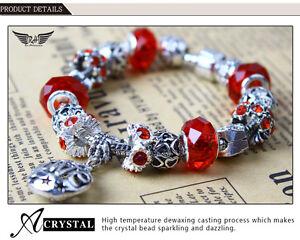 3-for-14-99-European-Charm-Bead-bracelet-Red-Cyan-Multi-2017-034-Love-034