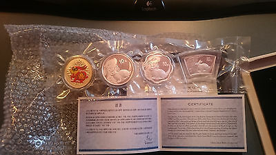 - Fächer Charitable China Hase 4 Coin Set Nur 200 Ex Farbe Wellig Attractive Appearance Rund 2011 Mdm