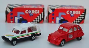 RARE-CORGI-SWANSEA-CITROEN-2CV-MATRA-RANCHO-MODELS-LOVELY-CONDITION