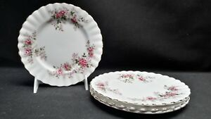 Royal-Albert-England-Bone-China-Lavender-Rose-Set-of-4-Bread-amp-Butter-Plates