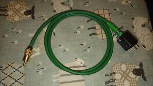 Single-QUAD-II-Monoblock-Jones-Plug-to-phono-plug-leads-1-meter-in-Green