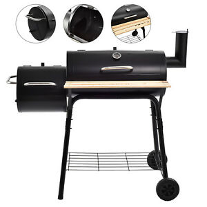 BBQ-Charcoal-Grill-Backyard-Barbecue-Cooking-Outdoor-Patio-Meat-Smoker-w-Wheels
