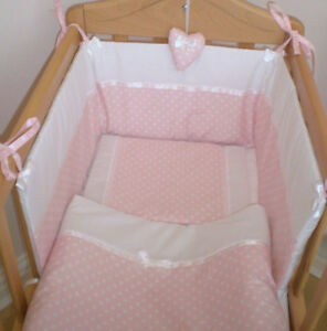 Cradle Babies White Broderie Anglaise Bed set for FREE P/&P Cot or Cotbed